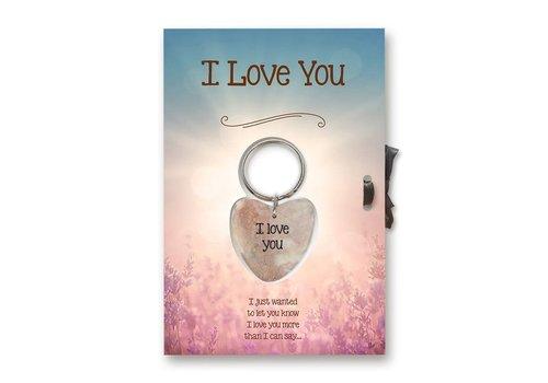 Kaart gelukshart - I Love You