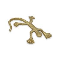 Decoratie - goudkleurige salamander