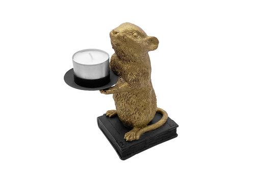 Housevitamin Waxinelichthouder  muis goud