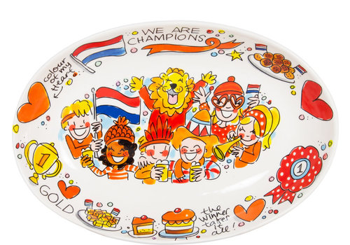 BLOND AMSTERDAM Snack schaal Oranje
