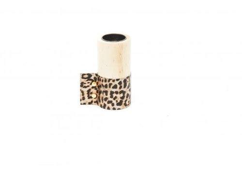 Housevitamin Houten Wax.houder Luipaard L