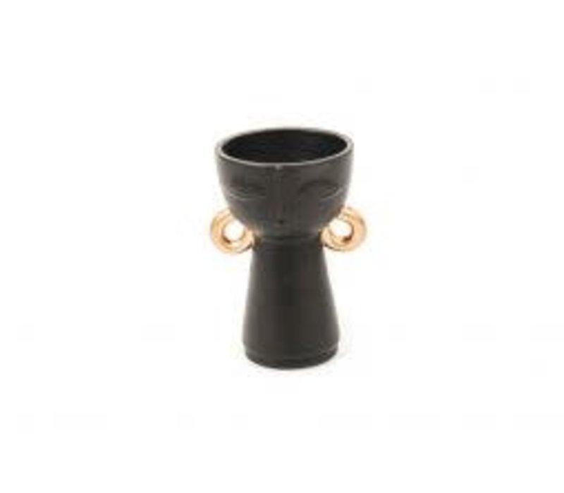 Vaas zwart met Gouden Oorbel