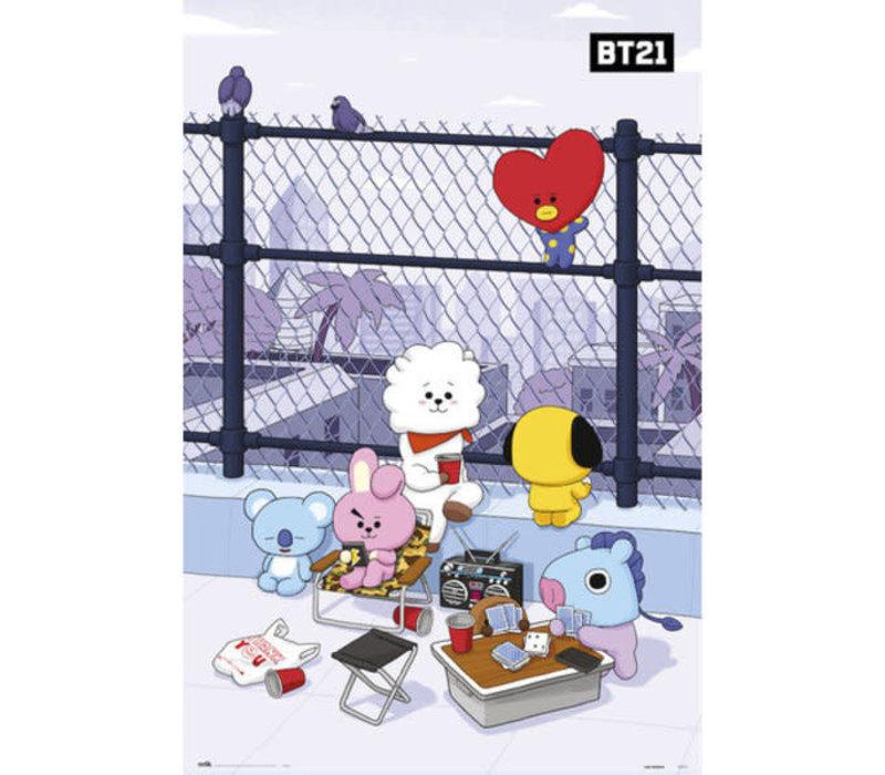 Poster BT21 ROOFTOP