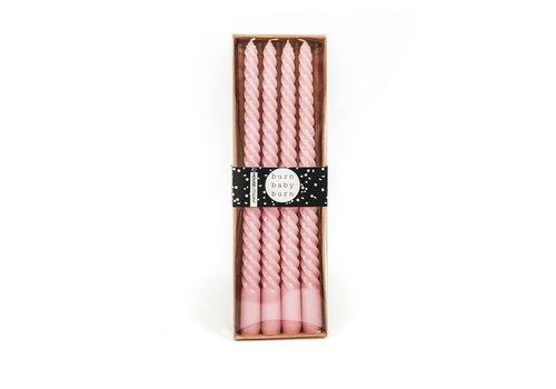 Housevitamin Set van 4 kaarsen roze 30 cm