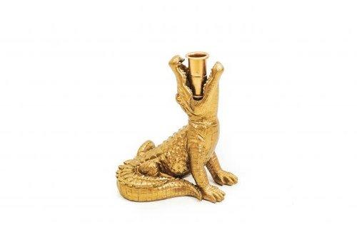 Housevitamin Alligator Candleholder Gold | Krokodil Kandelaar Goud