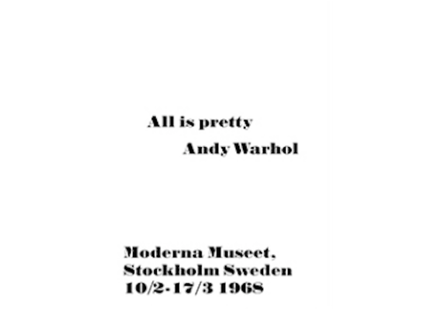 OPK Poster Andy Warhol All is Pretty 50x70cm
