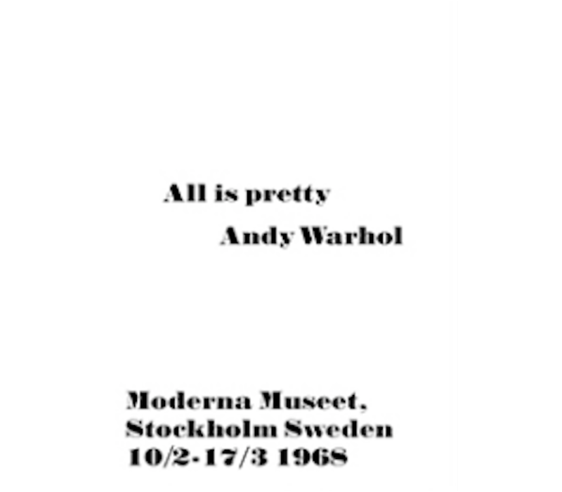 Poster Andy Warhol All is Pretty 50x70cm