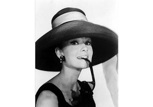 OPK Poster Audrey Hepburn met hoed A3