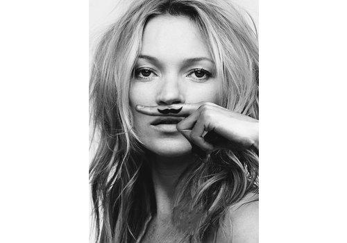 OPK Poster Kate Moss Moustache A3