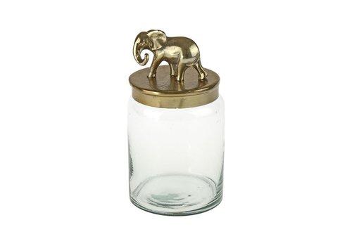 Werner Voss Pot met gouden olifant deksel