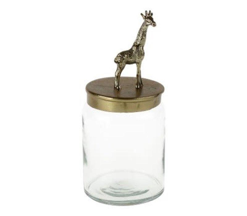 Pot met giraf op deksel
