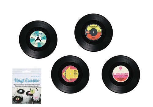 Vinyl coasters set van 4