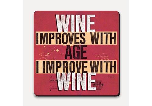 Scrawl Coaster - Improve With Wine