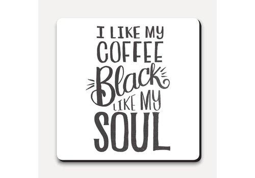 Matthew Taylor Wilson Coaster - Coffee Black