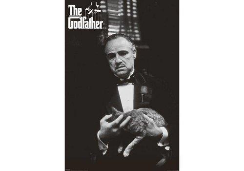 Poster |  GODFATHER CAT B&W
