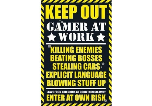 Poster |  GAMING KEEP OUT