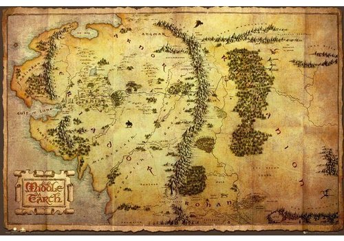 Poster 165 |  THE HOBBIT - MAP