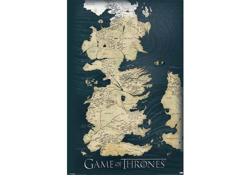 Poster |  GAME OF THRONES - MAP