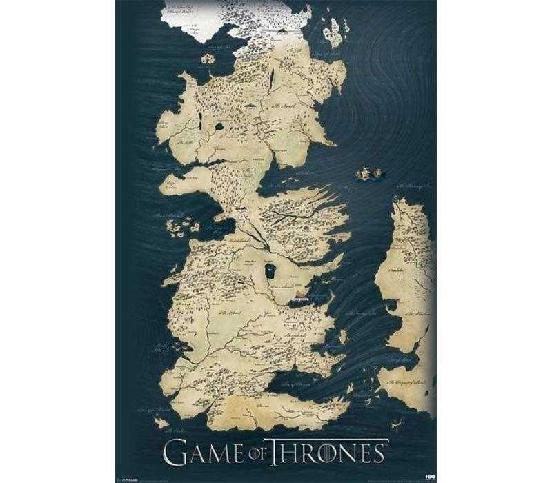 Poster 175 |  GAME OF THRONES - MAP