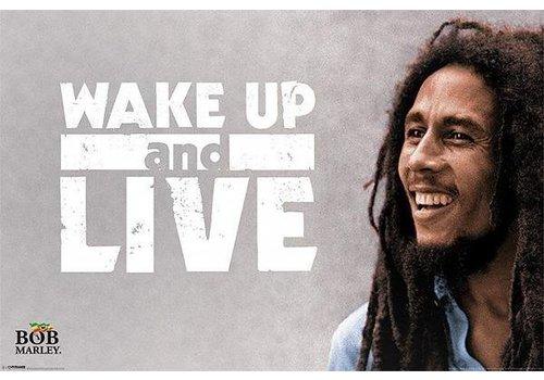 Poster |  BOB MARLEY - WAKE UP AND LIVE