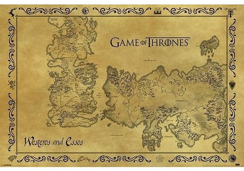 Poster |  GAME OF THRONES ANTIQUE MAP