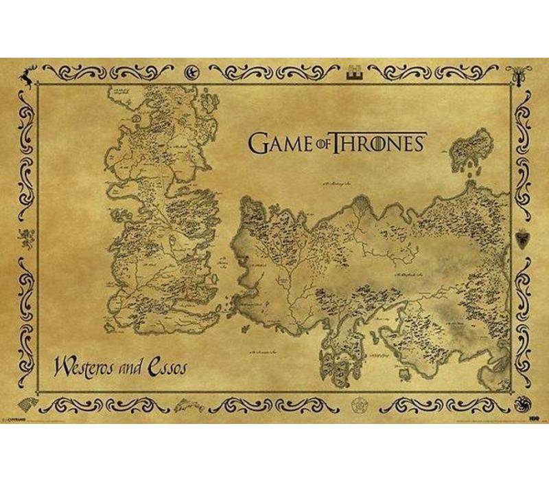 Poster 87 |  GAME OF THRONES ANTIQUE MAP