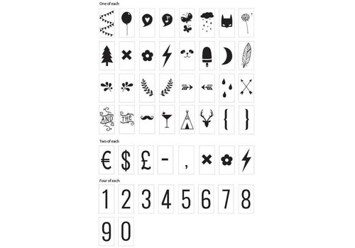 Lightbox  letter set Numbers & Symbols