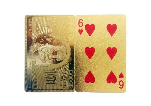 Invotis Speelkaarten- gouden dollars
