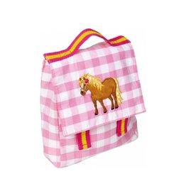 Ruitjes Rugzakje met Pony