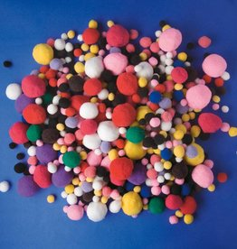 Playbox Groot Pakket Pomponnetjes Basiskleuren