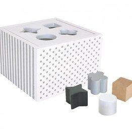 Sorteerbox met vormen Wit