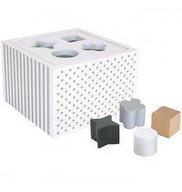 Jabadabado Sorteerbox met vormen Wit