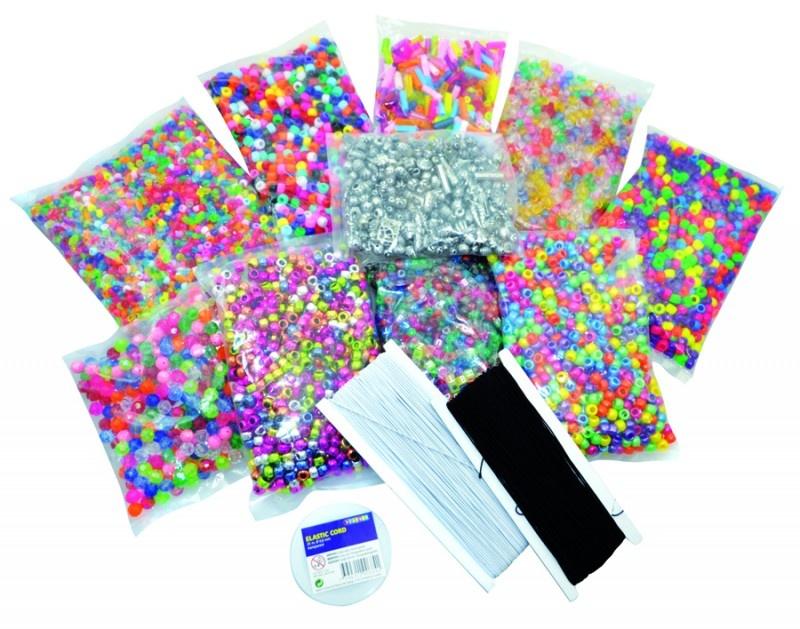 Playbox Plastic kralen Kinderen - Complete startset