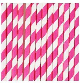 MLD Rietjes Roze Gestreept (25 st)