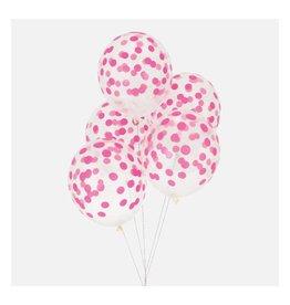 MLD Ballonnen Confetti Roze (5 st)