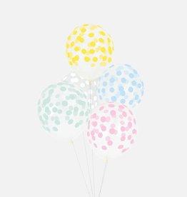 MLD Ballonnen Confetti Pastel (5 st)