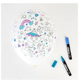 MLD Cartoon Ballonnen om in te Kleuren (5 st)