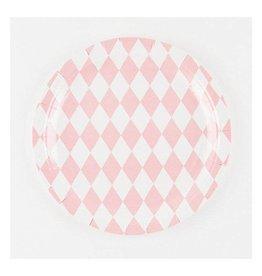 MLD Bordjes Roze diamant (8 st)