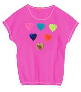 Mim-Pi Roze Hartjes T-Shirt