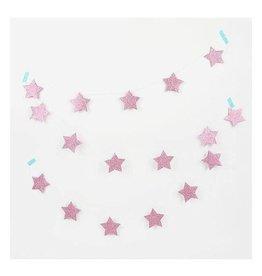 MLD Slinger met Roze Glitter Sterren