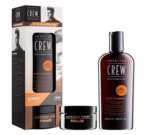American Crew Daily Shampoo 250ml & Pomade 85gr. Set