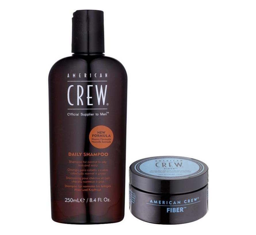 Daily Shampoo 250ml & Fiber 85gr. Set
