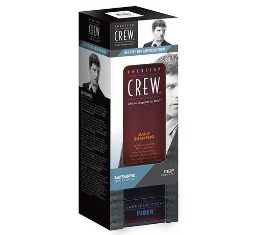 American Crew Daily Shampoo 250ml & Fiber 85gr. Set