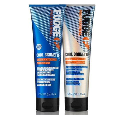 Fudge Cool Brunette Blue Toning Duo Pack - 2X250ml