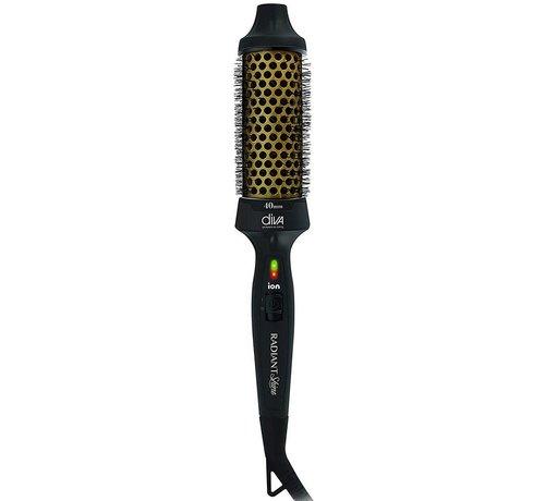 Diva Pro Radiant Shine Keramische Warmteborstel - 40mm
