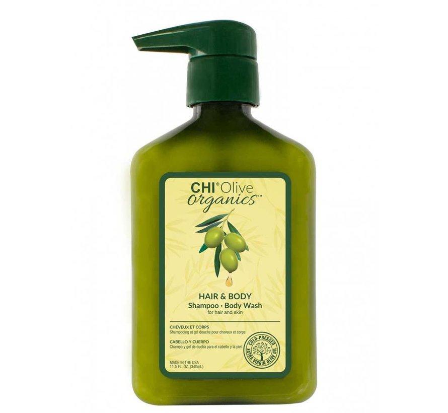 Olive Organics Hair & Body Shampoo - 340ml