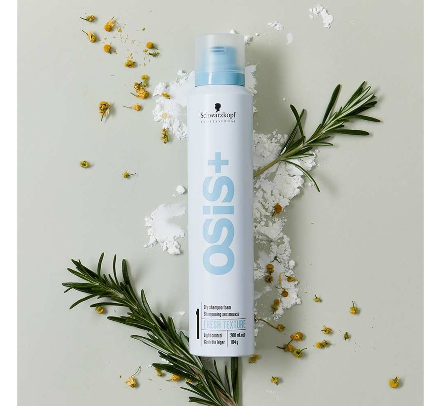 Osis+ Fresh Texture Dry Shampoo Foam - 300ml