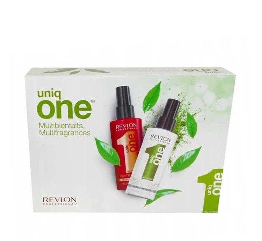 Uniq One Hair Treatment Green Tea Set - 2x 150ml