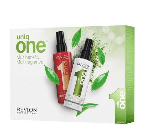 Revlon Uniq One Hair Treatment Green Tea Set - 2x 150ml
