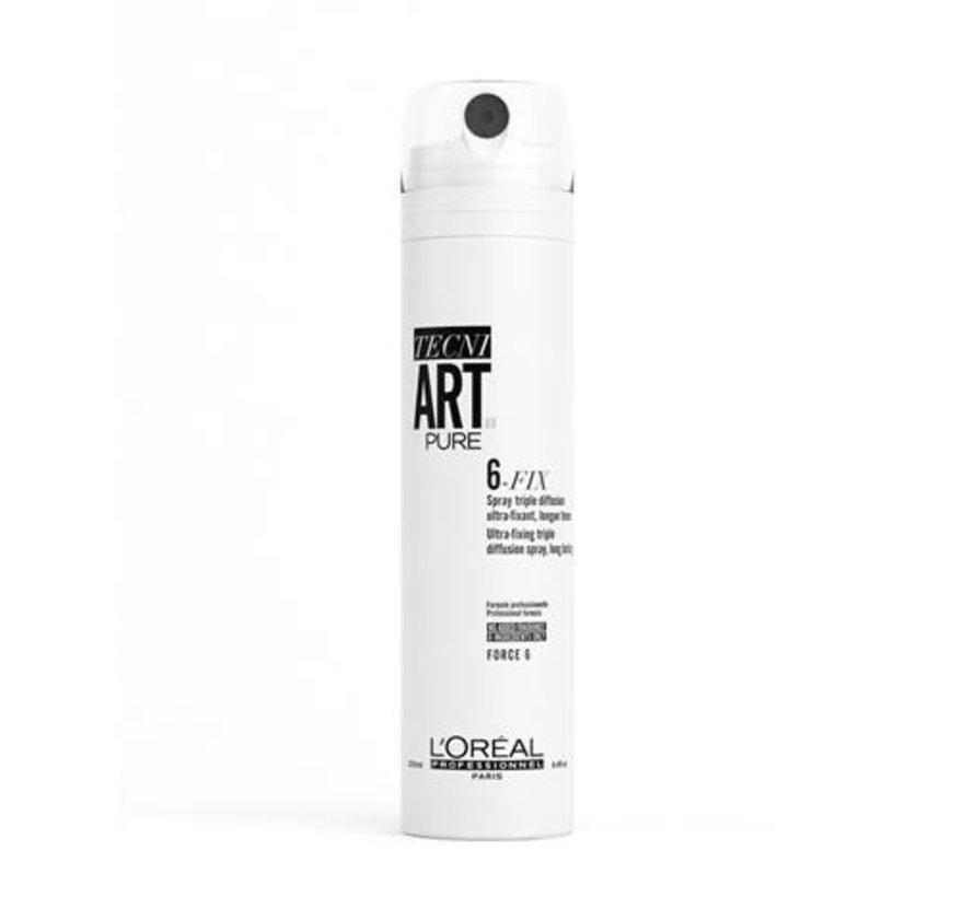 TecniArt Pure 6-Fix Hairspray - 250ml